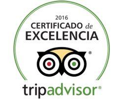 Hotel Restaurante Essentia Aracena - Certificado de Excelencia de Trip Advisor.