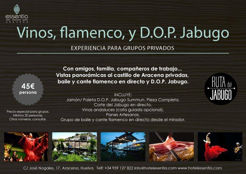 Vinos, flamenco y DOP Jabugo.